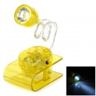 217-3 Creative Mini 0.15W 80lm 6000K 1-LED White Light Clip-on Table Lamp - Yellow (3 x AG13)