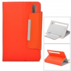 "Two Section Folding Lichee Pattern PU Leather Case for 7"" Tablet PC - Orange"