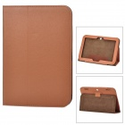 Lychee Grain Style Protective PU Leather Case for Lenovo A2109 - Brown