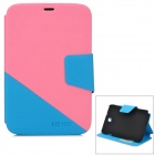 Fashion PU Leather for Samsung Galaxy Note 8.0 N5100 - Pink + Blue