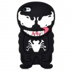3D Cartoon Devil Style Protective Silicone Back Case for Iphone 4 / 4S - Black + White + Red