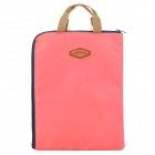 Tragbare Nylon Dokument Tragetasche Bag - Pale Violet Red + Deep Blue