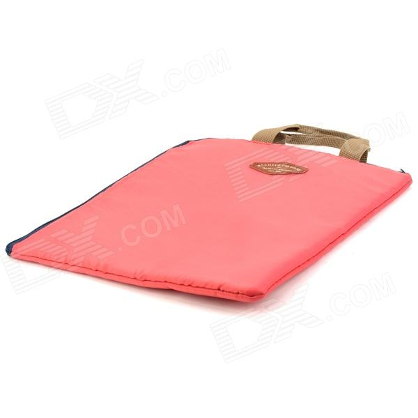 Portable nylon document carrying pouch bag pale violet for Document pouch for shipping