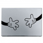 PAG Creative Two-hand Pattern DIY Sticker for MacBook - Black