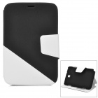 Fashion PU Leather Case for Samsung Galaxy Note8.0 - Black + White