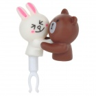 Cute Bear & Rabbit Adornment 3.5mm Jack Anti-dust Plug for Iphone / Cellphone - Multicolored