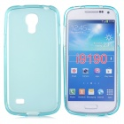 Protective TPU Back Case w/ Water Resistant Pouch for Samsung Galaxy S4 Mini - Sky Blue
