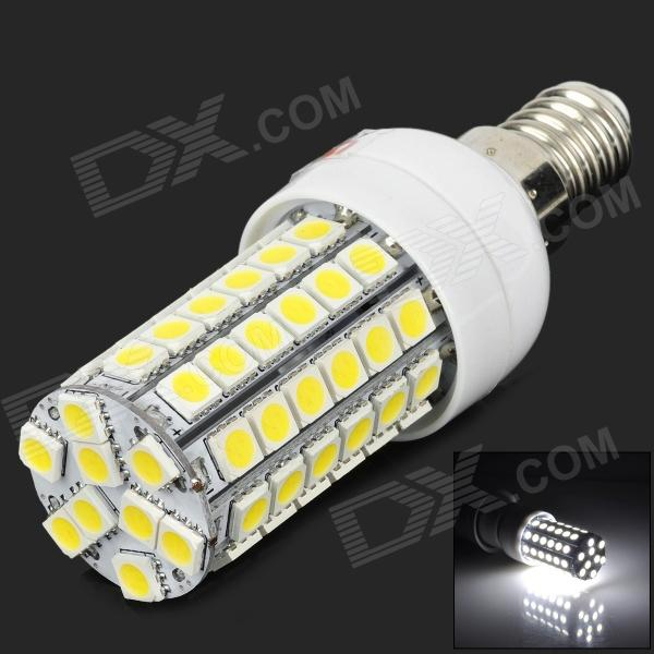 Lexing LX-YMD-005 E14 5W 500lm 7500K 69-5050 SMD LED White Light Lamp - White + YellowE14<br>ModelLXMaterialPCForm  ColorWhiteQuantity1Power5WConnector TypeE14Total Emitters69Color BINWhiteColor Temperature7500KDimmableNoWavelengthNoPacking List1 x Lamp<br>