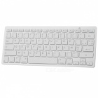 78-Key Bluetooth V3.0 Wireless Keyboard - White + Silver Grey (Französisch / 2 x AAA)