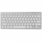 78-Key Bluetooth V3.0 Wireless Keyboard - White + Silver Grey (French / 2 x AAA)