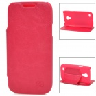 KUCHI Ultra-thin Protective PU Leather Case for Samsung Galaxy S4 Mini - Deep Pink