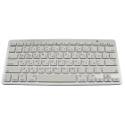 78-Key Bluetooth V3.0 Wireless Keyboard - Weiß + Silber Grau (2 x AAA)