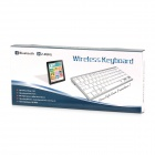 78-Key Bluetooth V3.0 Wireless Keyboard - Blanco Gris Plata (2 x AAA)