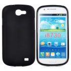 Protective Silicone Back Case for Samsung i8730 - Black