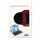 59-Key Bluetooth 3.0 Wireless Keyboard w/ PU Leather Case for Samsung Galaxy Tab 3 P320 -Red + Black