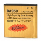 Replacement 3.7V 3030mAh Battery for Sony Xperia ZR/ M36h/ C5502/BA950 - Golden