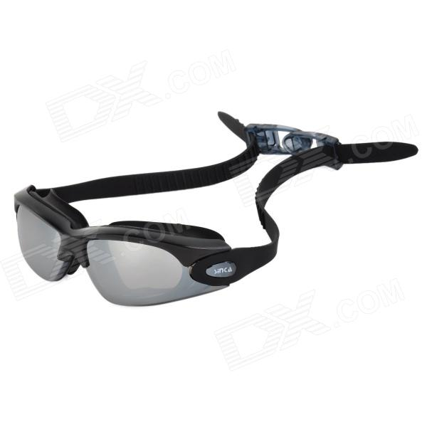 Sinca S928M Polycarbonate Swimming Goggles + Ear Plugs Set - Black