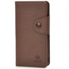 Protective PU Leather Case w/ Card Slot for Sony LT36H - Brown