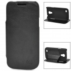 KUCHI Protective PU Leather Case for Samsung Galaxy S4 Mini - Black