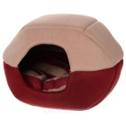 Folding Dual-Side Soft Plush Pet Dog / Cat Warm Mongolian Nest Bed - Red + Camel