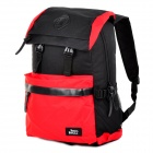 SHISHA PANGMA Stylish Durable Multifunctional PU + Canvas Backpack - Red + Black