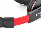 OVLENG X13 Headphones Headset w/ Microphone for Computer - Black + Red + Silver (120cm)