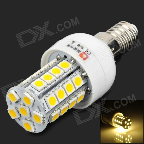 Lexing LX-YMD-014 E14 4W 350lm 3500K 34-5050 SMD LED Warm White Light Lamp - White + Yellow lexing lx qp 20 e14 6w 470lm 3500k 15 5730 smd led warm white light dimmable lamp ac 220 240v