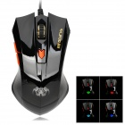 RAJFOO G3 USB 2.0 Wired Optical 800 / 1200 / 1600 / 2400dpi Gaming Mouse - Black
