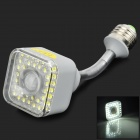 Edens AL102 E27 5W 200lm 6500K 39-F5 LED Rotatable IR Sensor Lamp - Grey