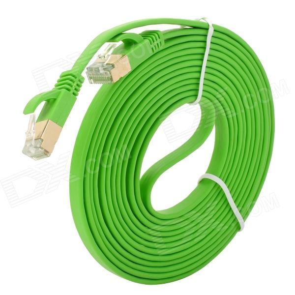 RJ45 Male till Male Connection Networking Flat Cable - Lime Green (3m)