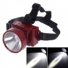 KangMing KM-189 Rechargeable High Power 1W 90lm LED 2-Mode White Light Headlamp - Wine Red