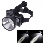 KangMing KM-182 Rechargeable High Power 1W 90lm LED 2-Mode White Light Headlamp - Black