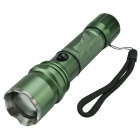 SingFire SF-20B 800lm 5-Mode Rotating Zooming Flashlight w/ Cree XM-L T6 - Green + Silver (1x18650)
