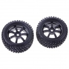 Rubber Tyres Set for 1/10 RC On-Road Car - Black (2 PCS / 73mm)