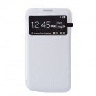 Crocodile Pattern Flip-Open Protective PU Leather Case for Samsung Galaxy Mega 6.3 i9200 - White