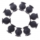 High Elastic Anti-vibration Rubber Ball Dual-Head for Gimbal FPV PTZ - Black (10 PCS)