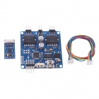 2-Axis Brushless Camera Mount Gimbal Controller w/ IMU Sensor for FPV Gopro Photography - Blue