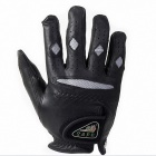 WONNY HFD1-002 PU Leather Anti-skid Golf Glove - Black (Right-hand / Size L)