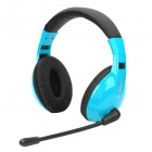 Stylish Headphones Headset w/ Microphone for Computer - Cyan + Black (3.5mm Plug / 2.15m)