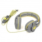SADES SA-708 Stylish Headphones Headset w/ Microphone - Grey + Yellow (3.5mm Plug / 2.15m)