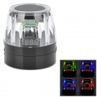 Crystal Style Flashing USB Rechargeable Speaker w/ TF / FM Radio - Black + Transparent