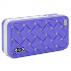 G.G.G Fashion Portable  USB Mobile Speaker w/ 3.5mm Jack + TF - Purple + White