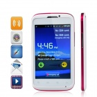 "MP991 (SPHS auf hsdroid) Android 2.3.5 GSM Bar Phone w / 4,0 "", Wi-Fi und Quad-Band - weiß + rot"