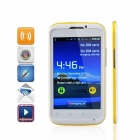 "MP991 (sphs on hsdroid) Android 2.3.5 GSM Bar Phone avec 4.0 "", Wi-Fi et Quad-bande-Blanc + Jaune"