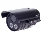 "Paisan PS-759CF 1/3"" CCD 600TVL 60' Wide Angle PAL Surveillance Security Camera w/ 2-IR LED - Black"