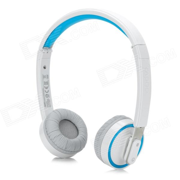 цены Rapoo H6080 Folding Bluetooth v4.0 Microphones w/ Voice Recognition - White + Blue