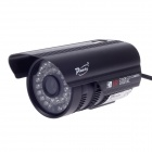 "Paisan PS-633CF 1/3"" CCD 600TVL 60' Wide Angle PAL Surveillance Security Camera w/ 36-IR LED - Black"