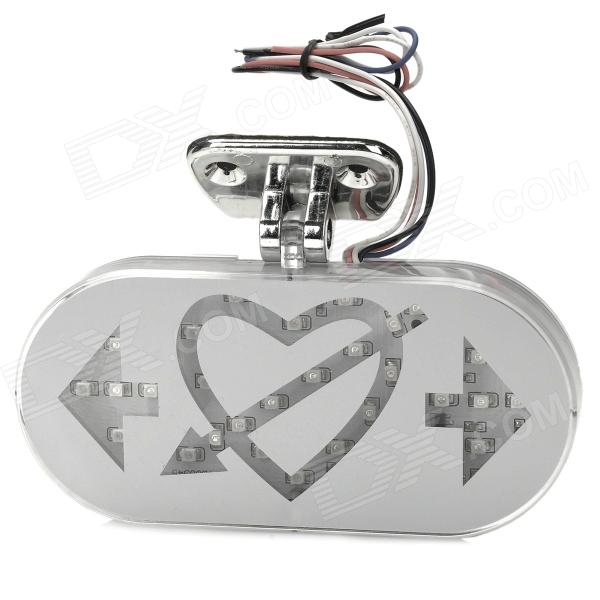 Cool Elf-arrow Heart Style DIY 3528 SMD LED Steering Lamp / Tail Lamp for Motorcycle - Silver