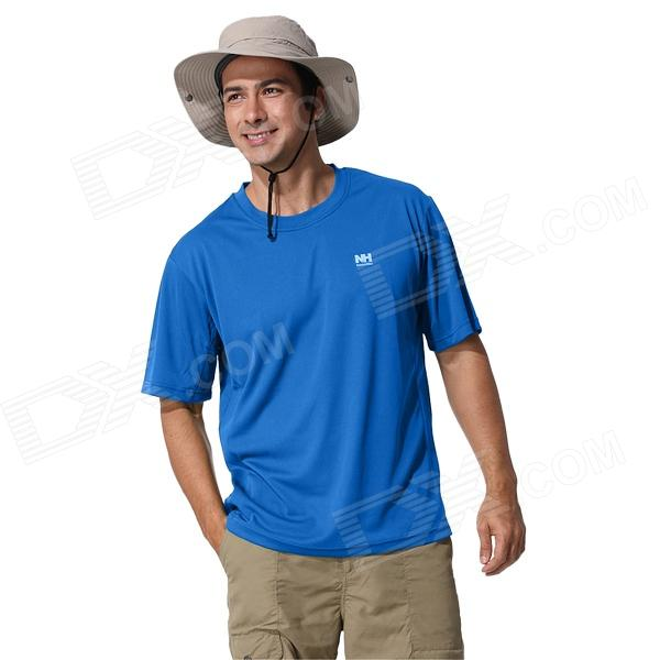 Naturehike-NH BD01-M Outdoor Quick Drying Round Neck Short T-Shirt - Blue (Size XL)