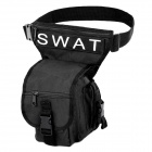 SWAT Multi-Functional Outdoor Sport Rainproof Waist / Leg / Shoulder Bag - Black (15L)